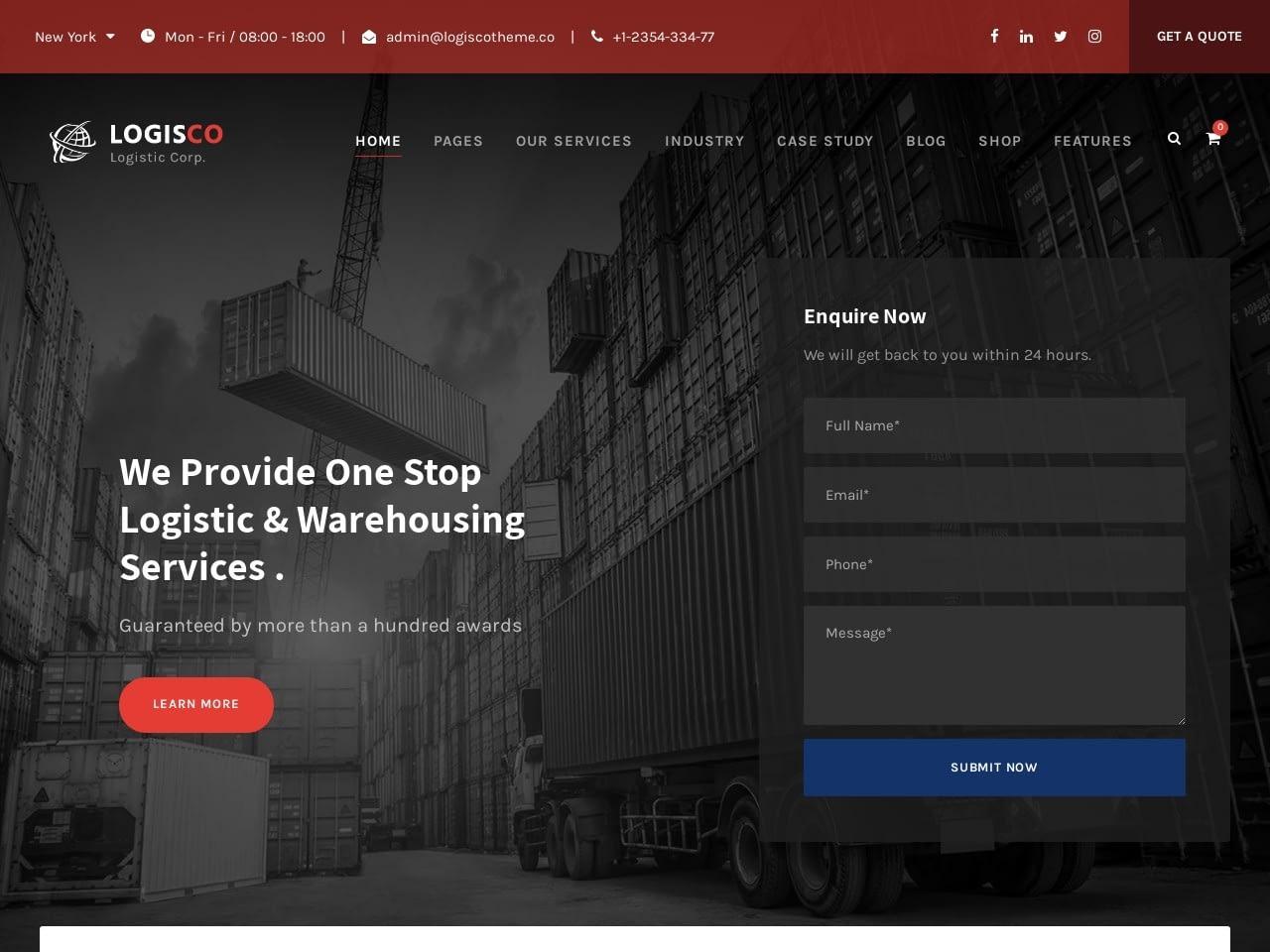 corporate website design example