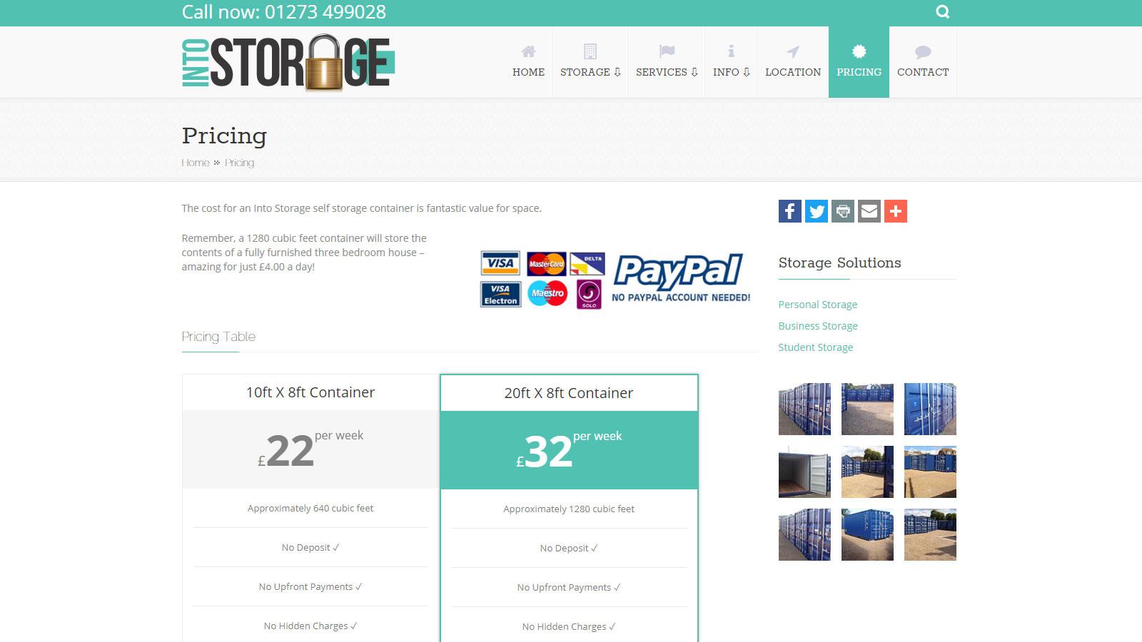 Commercial Services Website Design