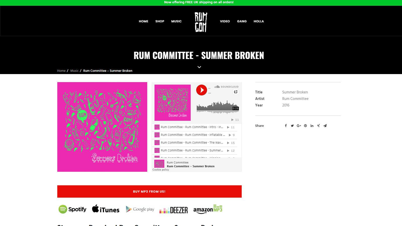 Musician Website Design