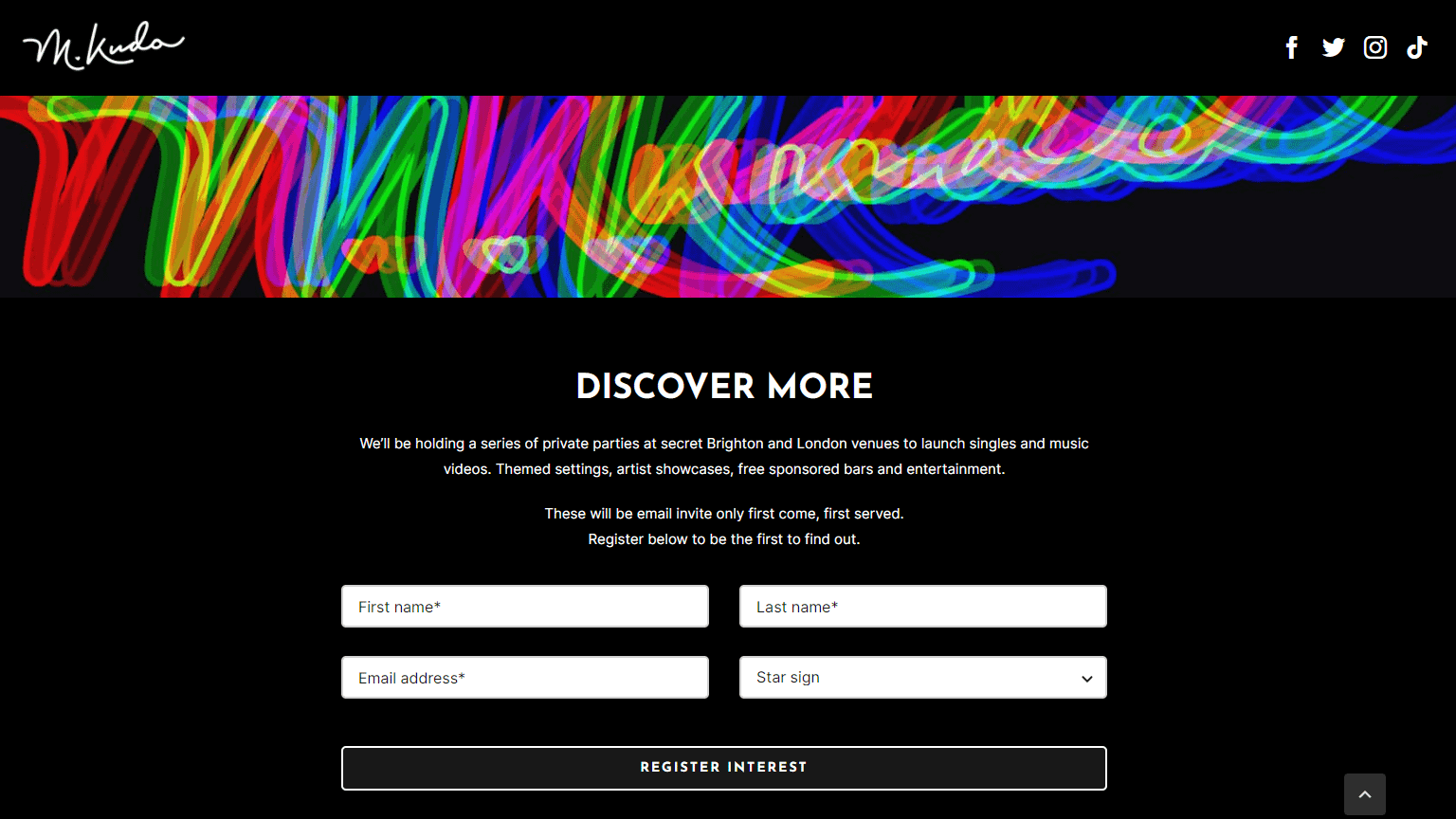 golivenow.uk website design M Kudo Music screenshot 3 - golivenow.uk